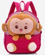 All cotton backpack Kindergarten baby cloth Pocket Monkey Bag