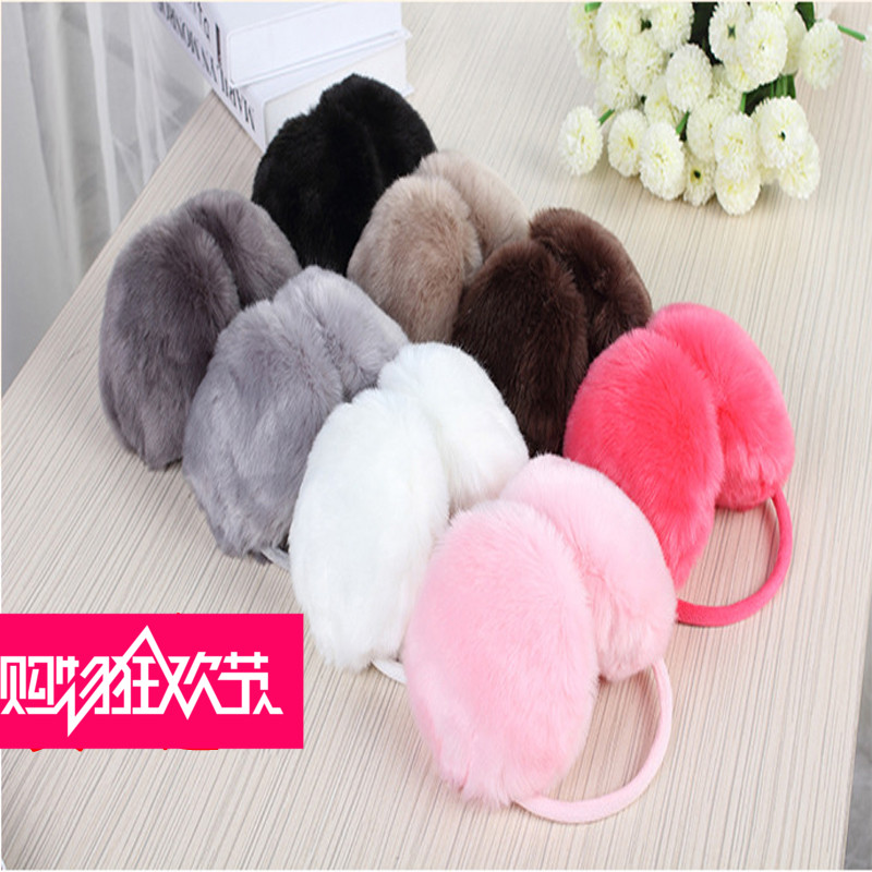 Earmuffs female ear cover to keep warm and lovely rabbit ears han edition big bowknot imitation rabbit hair buy two, get one free