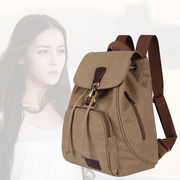 Female College Student Backpack Korean wind canvas all-match simple England in Europe and America small fresh multifunctional backpack tide