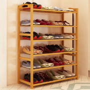 Simple household economy type shoe rack multilayer storage rack assembly of modern minimalist bamboo dust storage rack