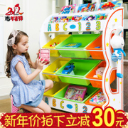 American children's toys baby picture book storage rack shelf shelves box shelf lockers in kindergarten