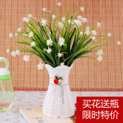 Desktop simulation flowers suit small potted living room table decoration bedroom decorative flower bonsai furnishings shipping table