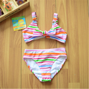 Original foreign trade brands exported to Europe children swimwear girls double sunscreen clothing surf triangle bikini