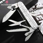 Swiss Army knife Vivtorinox 91MM Genuine Silver Hunter 1.3713.T7 multifunctional Swiss knife