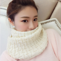 New yarn for fall winter bib girls thick warm winter Korean version of a solid color knit scarf lovers student male socket