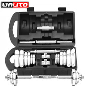 Shipping 20 kg 15kg electroplating dumbbell fitness equipment home men wanlitong dumbbell Gift Set