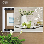 The meter box distribution box decorative painting mural paintings from the living room to push and pull switch weak power box switch box