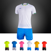Genuine Lining Lining short sleeved suit adult male football team training wear plate custom shirt