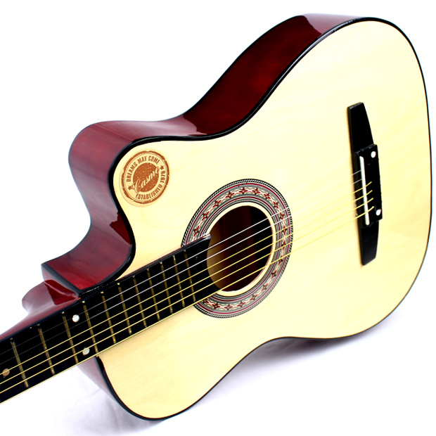 38 inch beginners, folk guitar, students, male and female beginners, practice guitar, new instrument, wooden guitar 38 inches