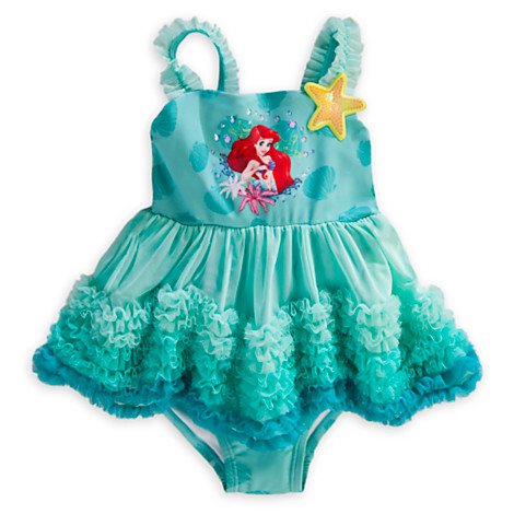 2015 new foreign trade e-mail shopping service girls swimsuits children dress in the original brand Disney Mermaid