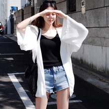 2018 new summer Korean version of the sun protection clothing in the long section of the cardigan Sea beach beach wear wild thin coat tide