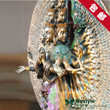 Resin Avalokitesvara talisman peace Buddha Buddha Buddha head decoration decoration Home Furnishing resistant materials