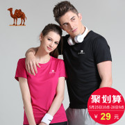 Hot 120 thousand camel movement t-shirt men casual summer T-shirt speed dry clothing fitness female T-shirt
