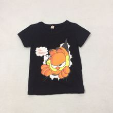2017 new summer children T-shirt Garfield cartoon explosion of foreign trade solid children - short T