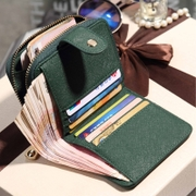 Female students are Korean New Wallet tide short multifunction zipper Small Wallet Purse sweet note clip