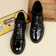 2017 new winter men help Korean leather shoes plus British cashmere Mens Casual Shoes shoes cotton shoes