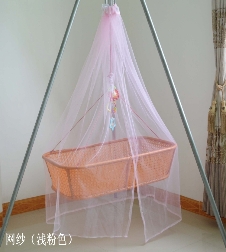 Crib, square top mosquito net, traditional imitation rattan, bamboo cradle, mosquito net, Princess Baby, mosquito net, dome, mosquito net for children