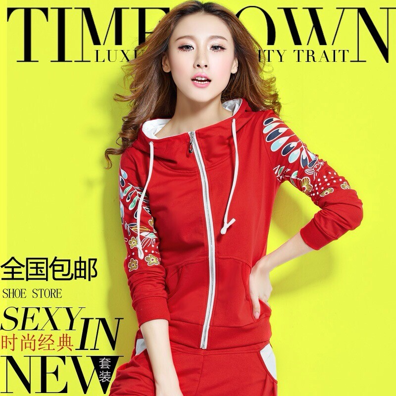 Fall 2015 new Korean ladies slim slimming suit Cardigan Sweater plus size sportswear and leisure clothing