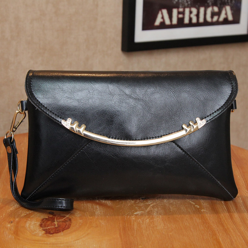 Leather clutch bag autumn 2015 new envelope bag leather hand bags ladies shoulder slung bags flip