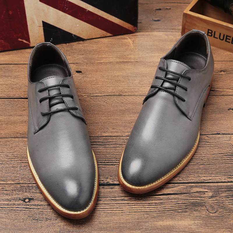 2015 new business casual dress shoes shoes for fall/winter male UK pointed warm Korean hair stylist shoes wave