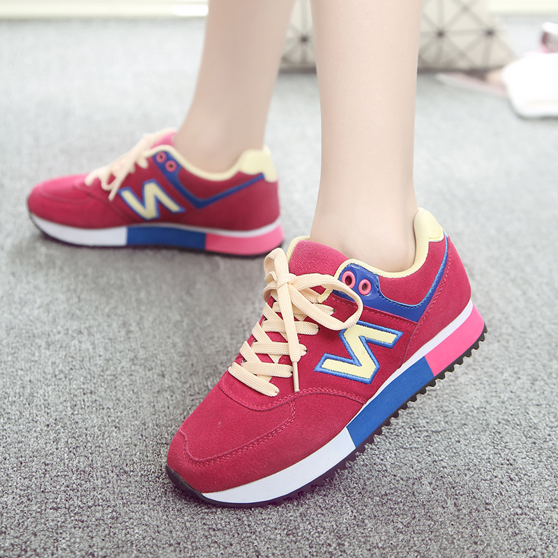 In the autumn of 2015 the New South Korean alphabet n sports shoes single leather shoes shoes color Agam shoes red tide