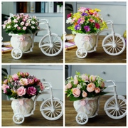 Plastic flowers, silk flower art simulation floats suit dry room decor gift small ornaments Home Furnishing bouquet