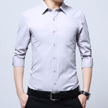 The temperament of man long sleeved solid color shirt cheap clothes Shirt Pants collocation workers 30-35-40 years old adults