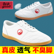 Jin Wu Tai Chi soft leather shoes leather shoes Dichotomanthes end of Tai Chi Kung Fu female male Wushu Kungfu shoes shoes in spring and summer