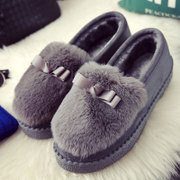 Ladies winter warm with Doug shoes slip-on cashmere ladies casual shoes flat Plush thick bottom autumn female shoes