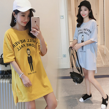 2017 pregnant women with a new summer short sleeved cotton print cartoon T-shirt Blouse Dress up code