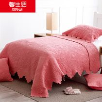 Hot sweet coral red color air conditioner covers are spring and autumn quilt thin blankets for children girl student child