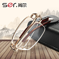buy one get one yet Seoul reading glasses men and women anti-fatigue ultra-portable folding reading glasses resin comfort HD