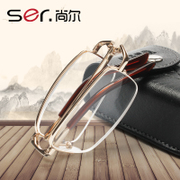 Buy one get one hisaji presbyopic glasses and ultra portable folding anti fatigue glasses comfortable HD resin