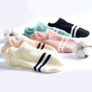 Female ship socks socks shallow mouth thin cotton slip silicone invisible Summer Low Korea cute socks feet