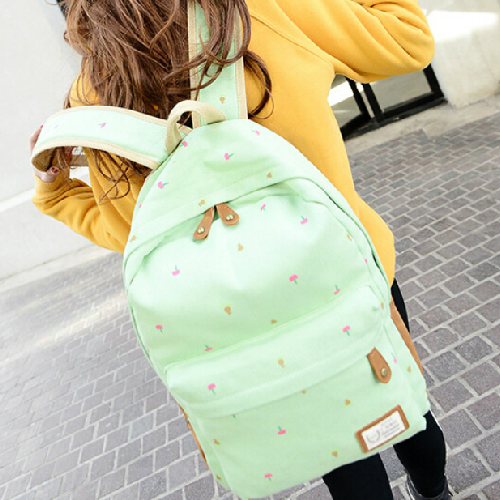 Bags female middle school students campus college female fresh air backpack canvas Korean wave leisure bulk