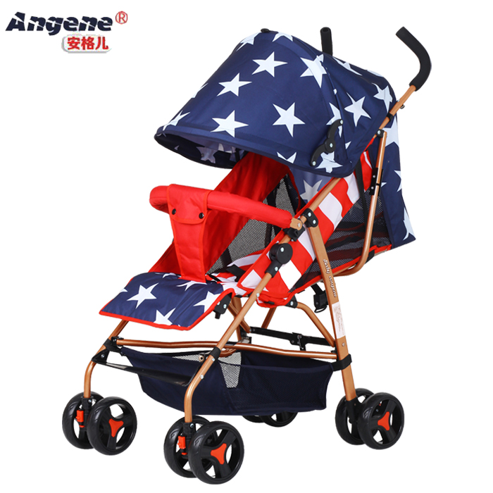 Anchor baby ultra light portable seating lay collapsed suspension four wheel Push Cart BB baby stroller