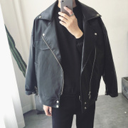 Exclusive money ~ Aberdeen South Korean winter custom oversize men's leather coat temperament Street tide