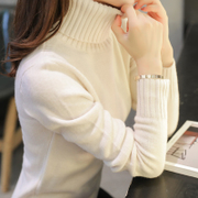 New winter sweater Womens turtleneck Turtleneck Shirt Korean female short sleeved thick slim