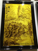 Phoebe gold Nan pyrography Chinese painting and oil painting mural hanging screen quality water