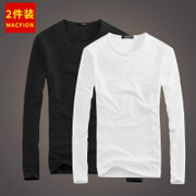 Long sleeved t-shirt men T-shirt white autumn clothes men's Winter Jacket Mens Shirt solid tight