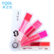 Ice love 15 Color Lip Gloss moisturizing lip Lip Glaze Color Lasting Lipstick Lip biting cold liquid water