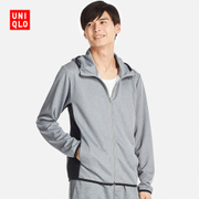 Mens DRY-EX Zip Hooded cardigan (long sleeved) 198724 UNIQLO UNIQLO