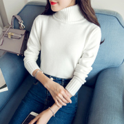 2016 new winter sweater dress Korean Turtleneck Shirt sleeve head long sleeved thick short slim