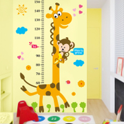 Children's cartoon baby room height sticker bedroom wall decoration removable wall height wall self-adhesive stickers