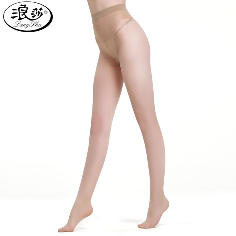 浪莎比基尼性感丝袜女显瘦蝴蝶档防勾丝超薄连裤袜打底袜正品包邮