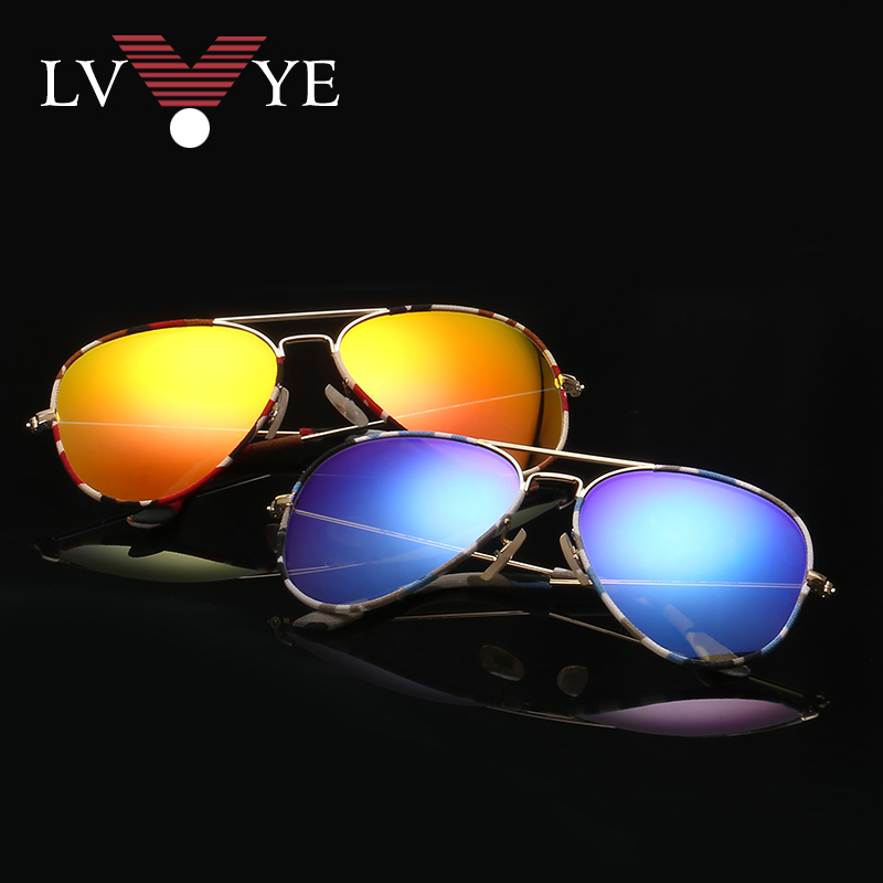 Genuine 3025 color film reflective glass sunglasses sunglasses sunglasses driver drive for male and female pilots mirror