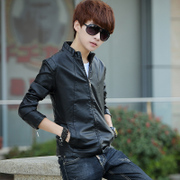 Men's leather jacket young Korean young men in the spring of the old men's leather jacket