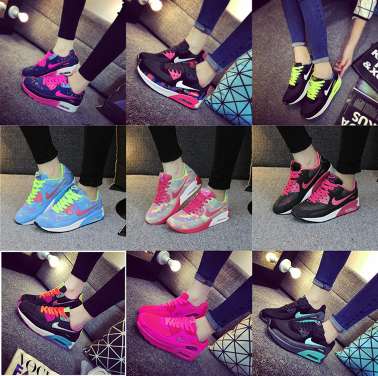 In the autumn of 2015 new sports shoes female students running shoes soled shoes casual shoes to increase female Korean tide