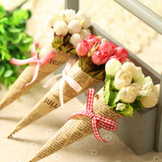 Mini red rose flower 1 ornaments jewelry handmade newspaper photography background Taobao camera shooting props
