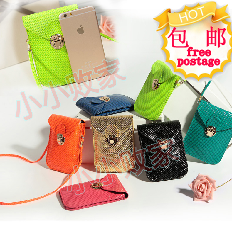 PU leather mobile phone shoulder bag pouch case For iPhone 6